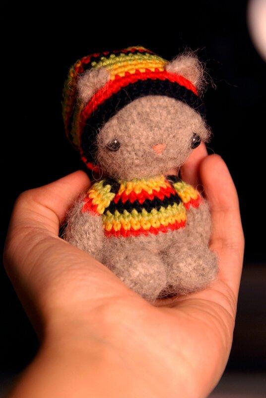 Rasta kittybear crochet amigurumi