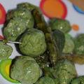 Gnudi aux épinards et brocciu