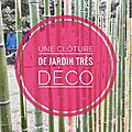 Comment clôturer joliment un potager? en créant une gavinelle en bambou!