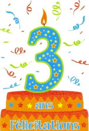joyeux anniversaire mon bebe 3 ans