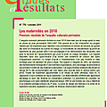 La situation périnatale en france en 2010 - premiers résultats de l'enquête nationale