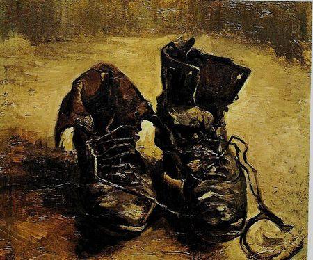 Les vieux souliers tableau van gogh