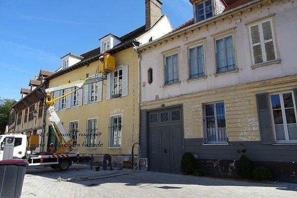 fin cablage place St Pierre Troyes et façades