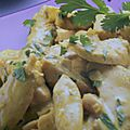 Emince de poulet au lait de coco