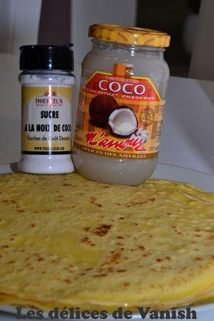 crepes - confiture noix de coco - guadeloupe - dessert