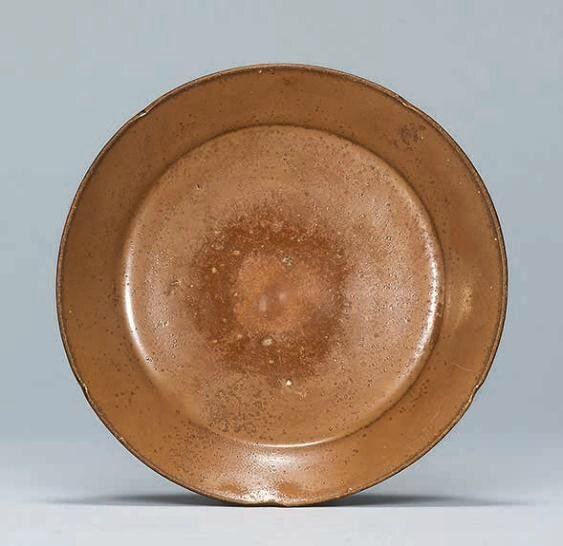 A Dangyangyu russet-brown glazed foliate dish, Northern Song dynasty (960-1127)