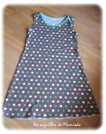 Robe jersey pois D (2)