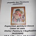 EXPOSITION PEINTURE TISSUS ASPHODELE JUILLET 2013