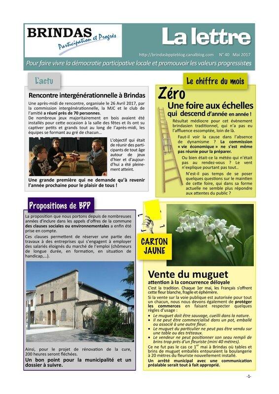 Newsletter 40 2017-05-01