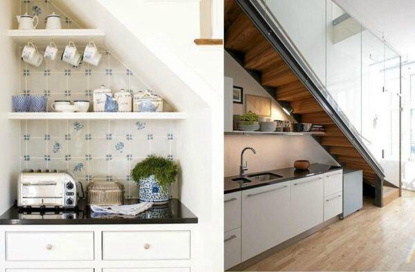 escalier-espace-stockage-petite-cuisine