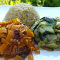 Dômes de légumes et quinoa