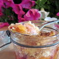 Crumble abricots et nectarines