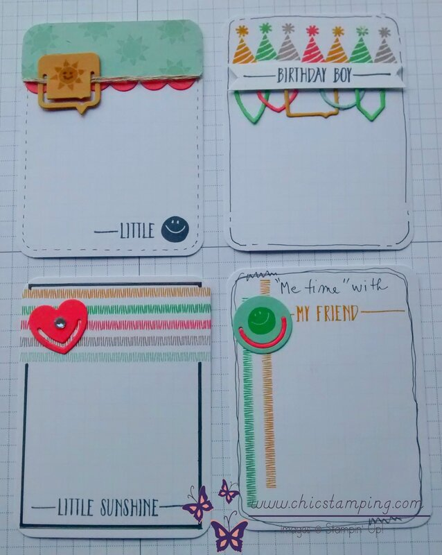 DIY project life card series paper clips group