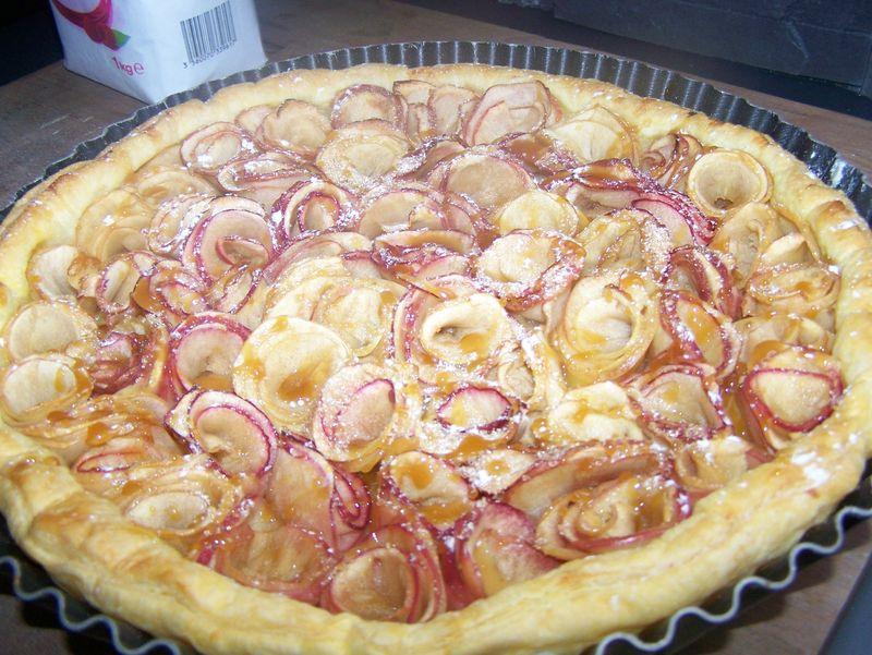 Tarte aux pommes en fleur du bruit dans ma cuisine - Du bruit dans ma cuisine ...