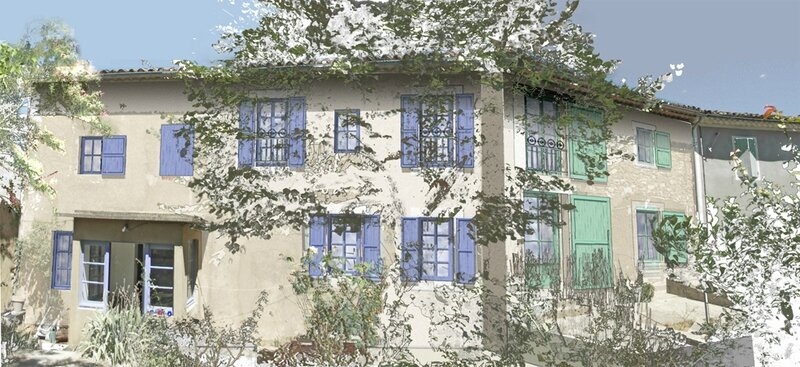 réhabilitation en campagne façade Sud