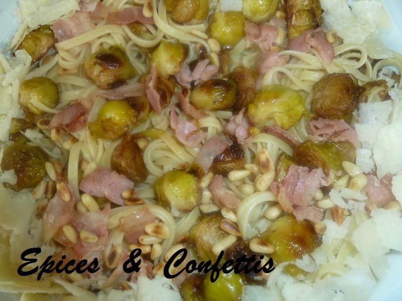 Choux de bruxelles epices confettis - Comment cuisiner des choux de bruxelles en boite ...