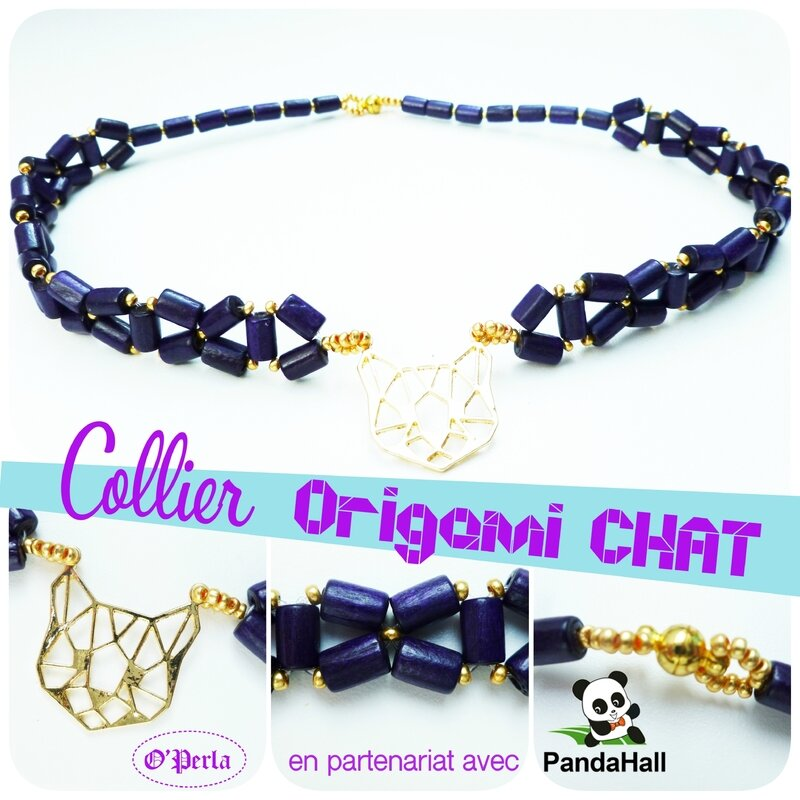 montage collier chatVIOLET