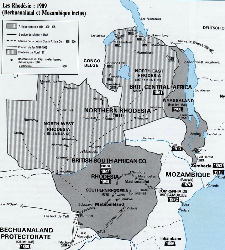 Carte Rhodesie