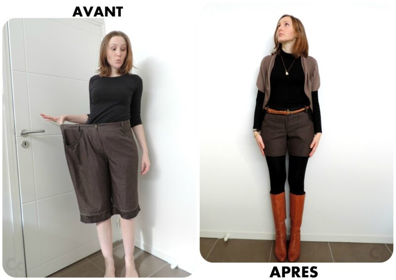 couture recyclage short 1