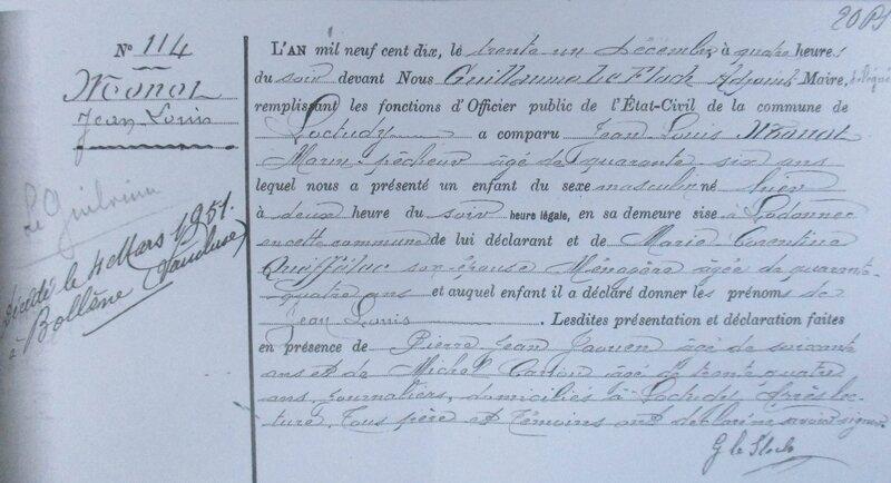 1910 N Jean Louis MONOT