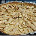 Tarte pomme à la crème patissière