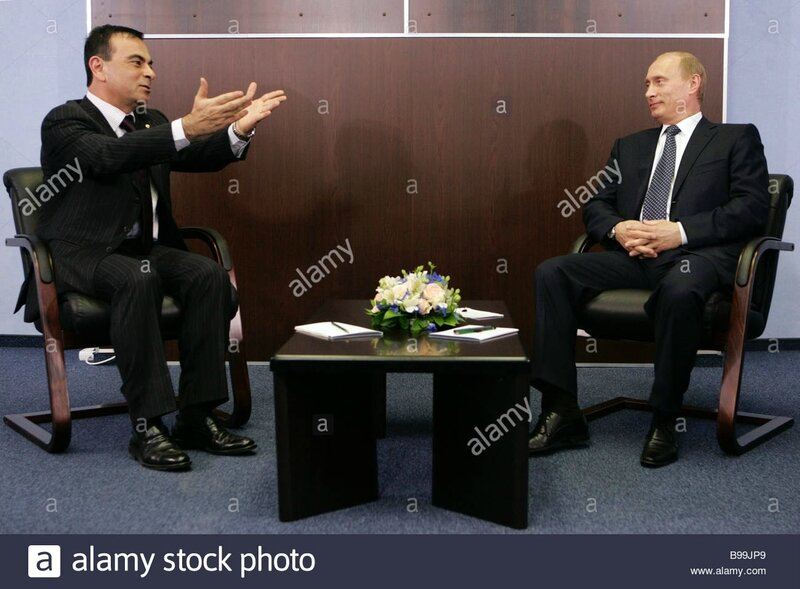 putin with ghosn