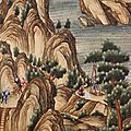 Wallpaper panel, china, 18th century