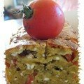 cake pesto, fta, tomates
