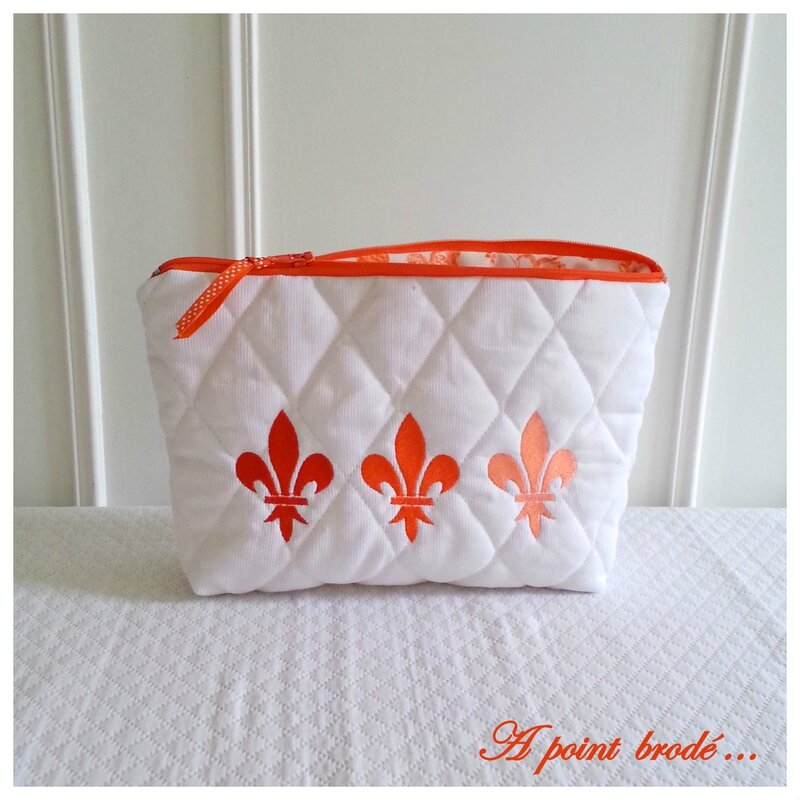 Trousse 3 lys orange