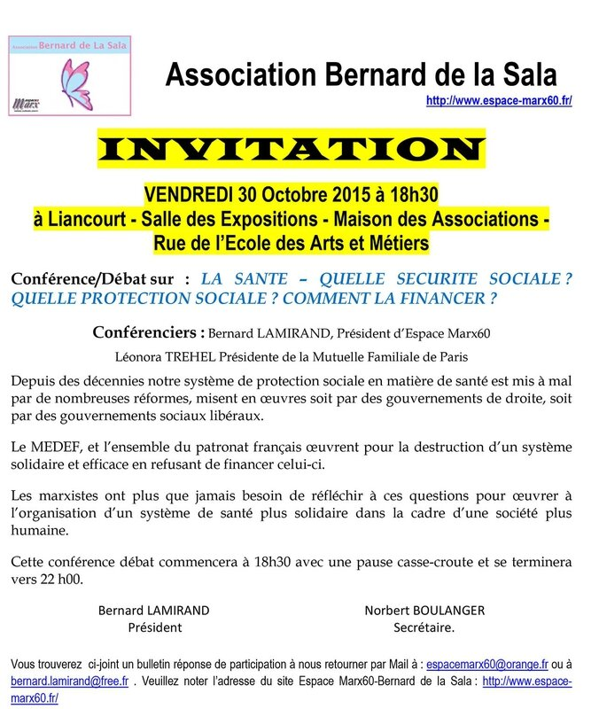 Invitation 30 Octobre