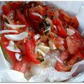 Papillotte de filets de cabillaud tomates mozzarella