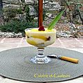 Coupe fruitée fromage blanc/ananas comme un tiramisu very light
