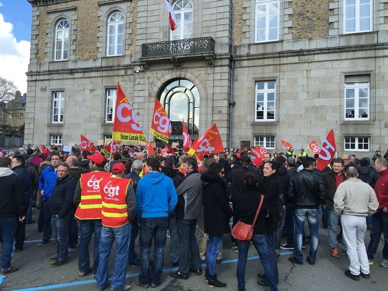 manifestation loi travail Avranches 31 mars 2016 lycéen rassemblement