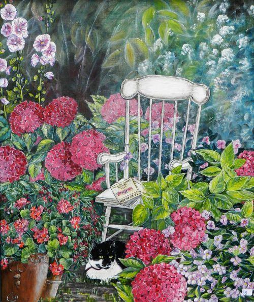 Jardin extraordinaire tableaux de clo colette degouy for Jardin extraordinaire