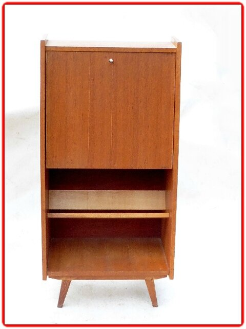 secretaire vintage incline annees 50 vendu meubles et. Black Bedroom Furniture Sets. Home Design Ideas