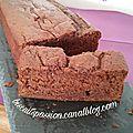 Cake hyper moelleux au chocolat et au lait ribot ( lait fermenté )