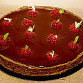 La tarte choco framboise