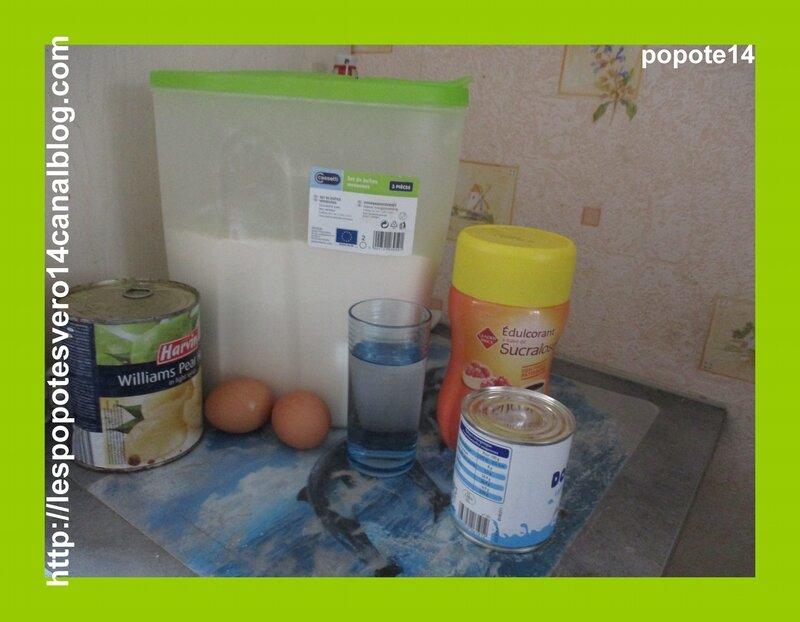 clafouti aux poires et au lait concentrée1