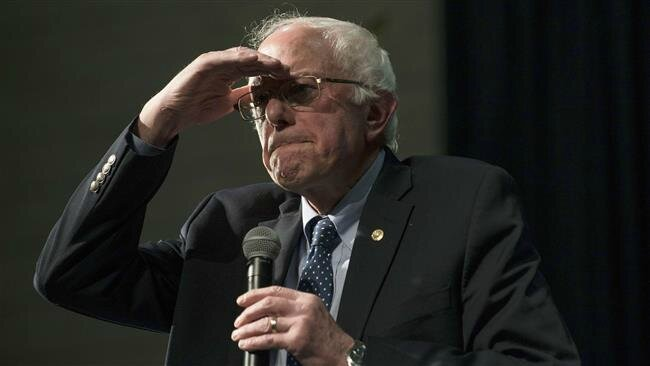 Bernie Sanders eyes on the horizon