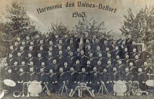 CPA Harmonie des Usines 1905