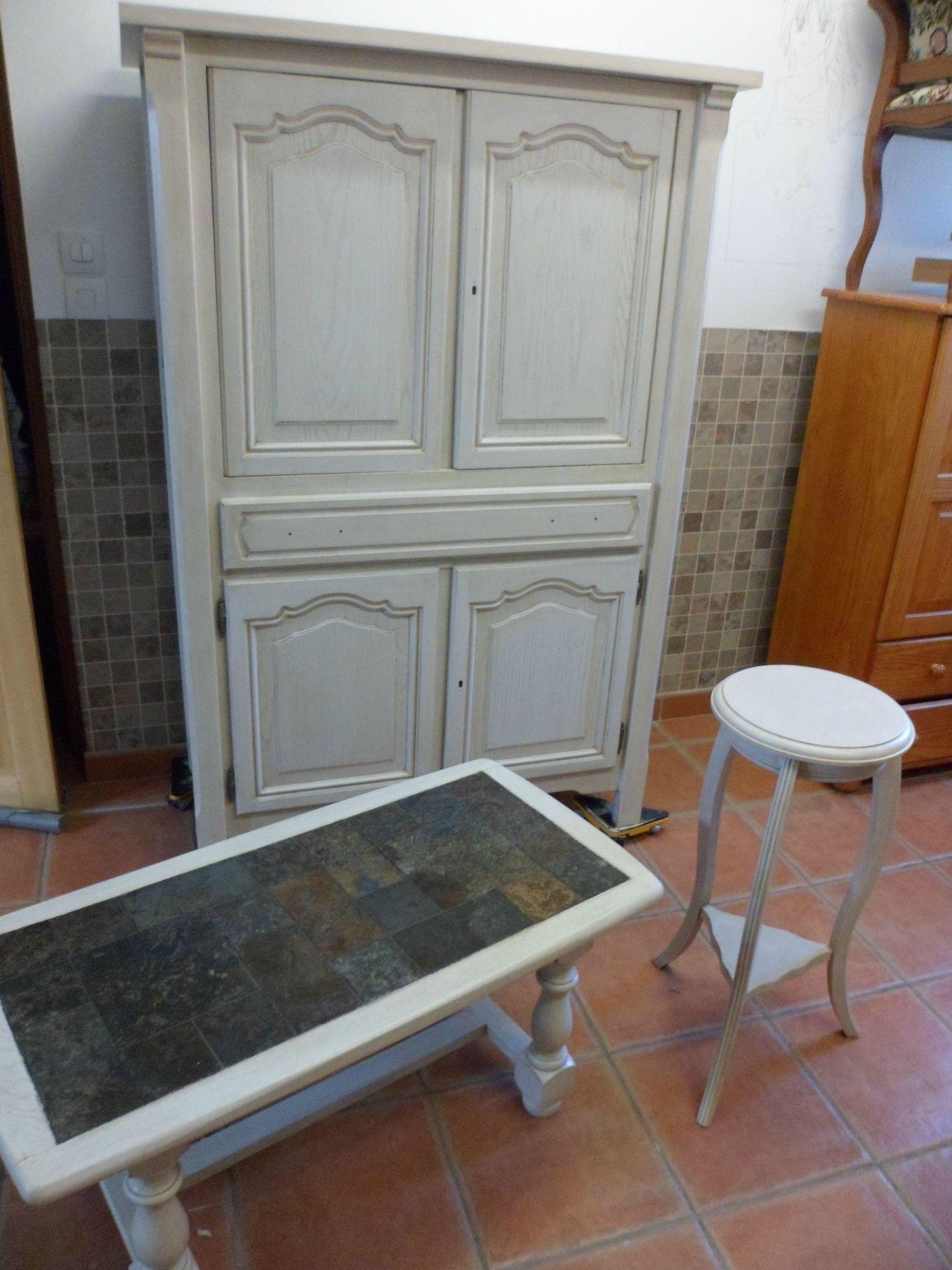 Ensemble meuble tv table et gueridon relook meubles62 for Sous couche meuble