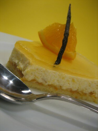 Entremet mangue-orange