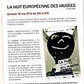 Exposition nuit des musées - partenariat musée saint-roch/ ecole condorcet (cm2) - issoudun