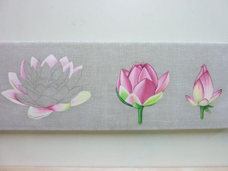 Suzanne lotus florence melocco cours de peintures for Peintures decoratives