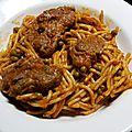 Spaghetti d agneau