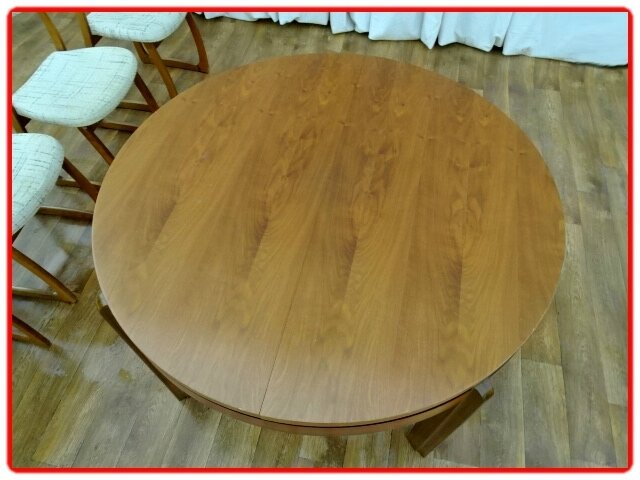 TABLE TECK 1960 VINTAGE SCANDINAVE