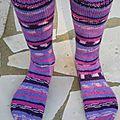 Chaussettes violettes