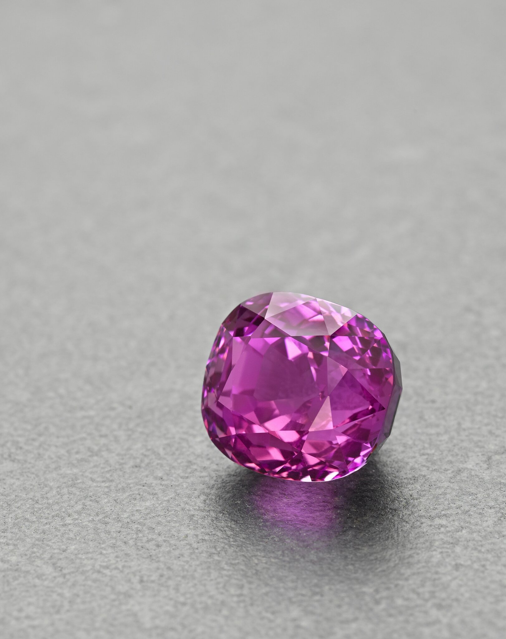 Rare natural pink Sapphire on offer in gems auction at Bonhams