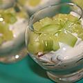 Verrines de saumon-crème-concombre