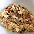 Faux risotto de puntalettes aux légumes et huile citronnée